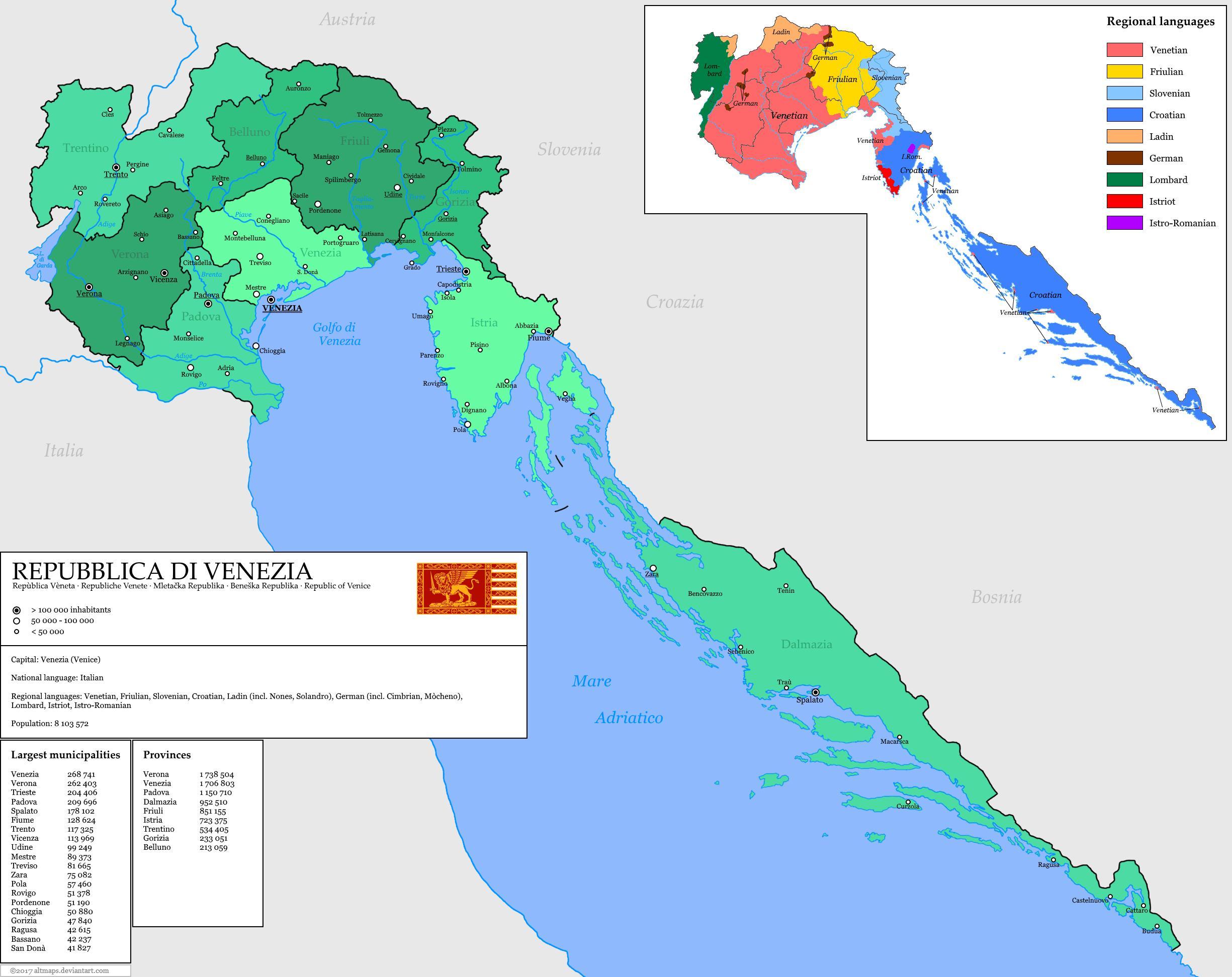 República De Venecia Mapa República De Venecia Mapa Italia